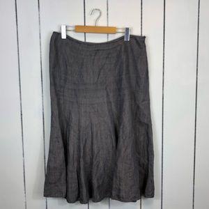 Anne Klein Linen A-Line Skirt Sz 10